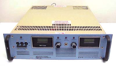 ELECTRONIC MEASUREMENTS INC. DC POWER SUPPLY 7.5V, 600A