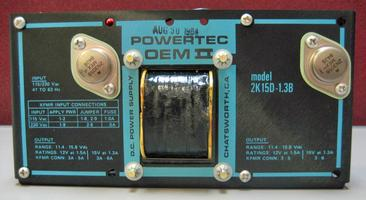 Powertec OEM2 D.C. Power Supply 2K15D- 1.3B